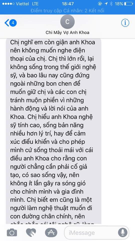 Phạm Lịch công khai tin nhắn cho vợ Phạm Anh Khoa trước vụ tố gạ tình