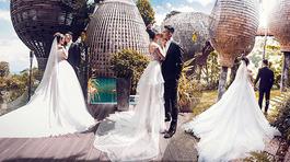 Ảnh cưới lãng mạn của Diệp Lâm Anh và chồng thiếu gia