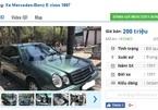Những chiếc Mercedes cũ này đang rao bán giá 200 triệu tại Việt Nam
