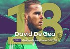 """De Gea lần đầu đoạt danh hiệu """"Đôi găng vàng"""""""