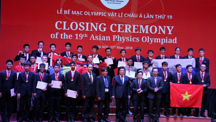 Olympic Vật lý châu Á,Huy chương vàng