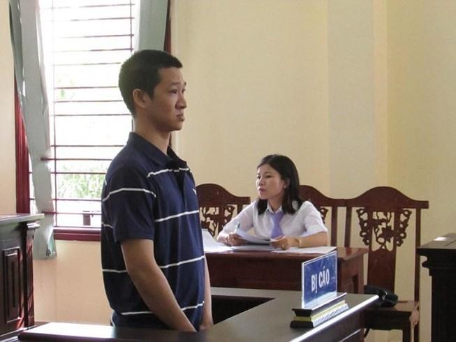 Bị cáoNguyễn Thái Trườngtại tòa sơ thẩm.