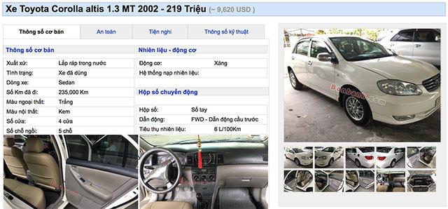 200 triệu đồng có thể mua xe cũ loại nào?
