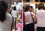 Buộc du khách Trung Quốc cởi bỏ áo in hình lưỡi bò
