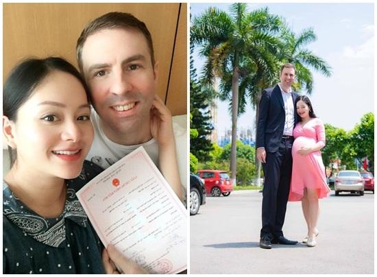 Diễn viên Lan Phương sinh con cho chồng Tây cao 2m