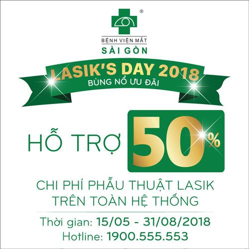 Lasik's day 2018: Cơ hội không thể bỏ qua