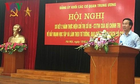 Ông Võ Văn Thưởng: Học tập Bác, không chạy theo số lượng và thành tích