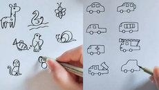 Cách vẽ hình cực đẹp và đơn giản dành cho bé