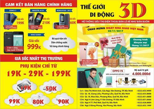 Thế Giới Di Động 'nhái' xuất hiện ở Bắc Giang, Bắc Ninh