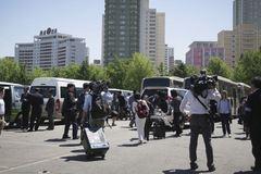 Phóng viên Hàn tới xem dỡ bãi thử hạt nhân Triều Tiên theo đường nào?