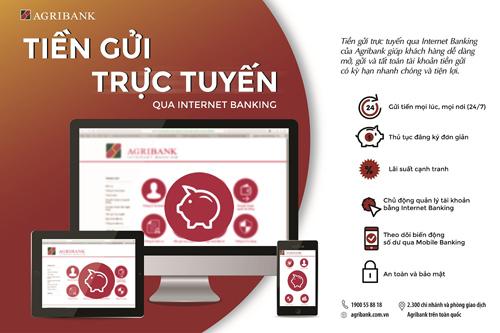 Agribank triển khai dịch vụ Tiền gửi trực tuyến 24/7