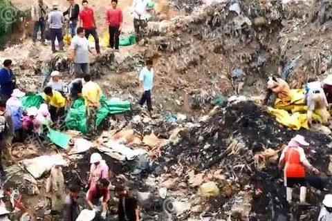 Dân TQ đào trộm thịt tiêu hủy, thối rữa sát biên giới VN