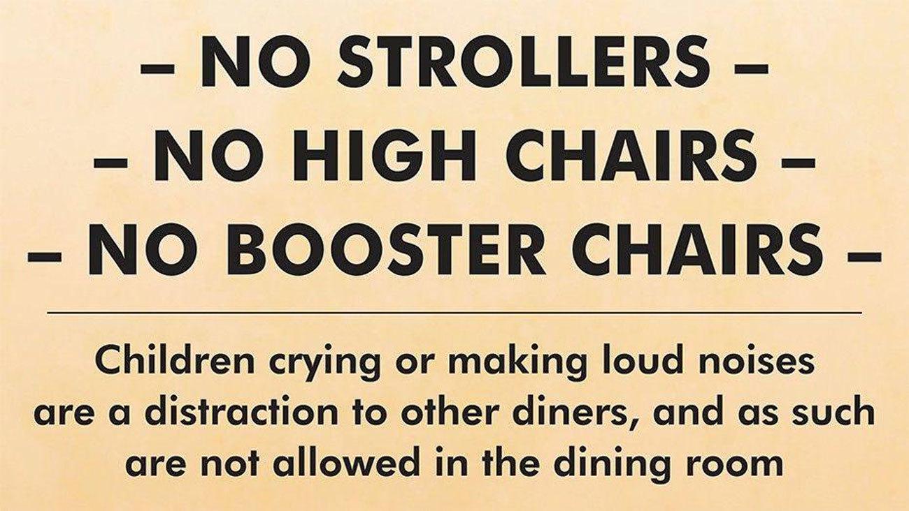 Tranh cãi xoay quanh quy định 'Cấm trẻ em to mồm' tại nhà hàng