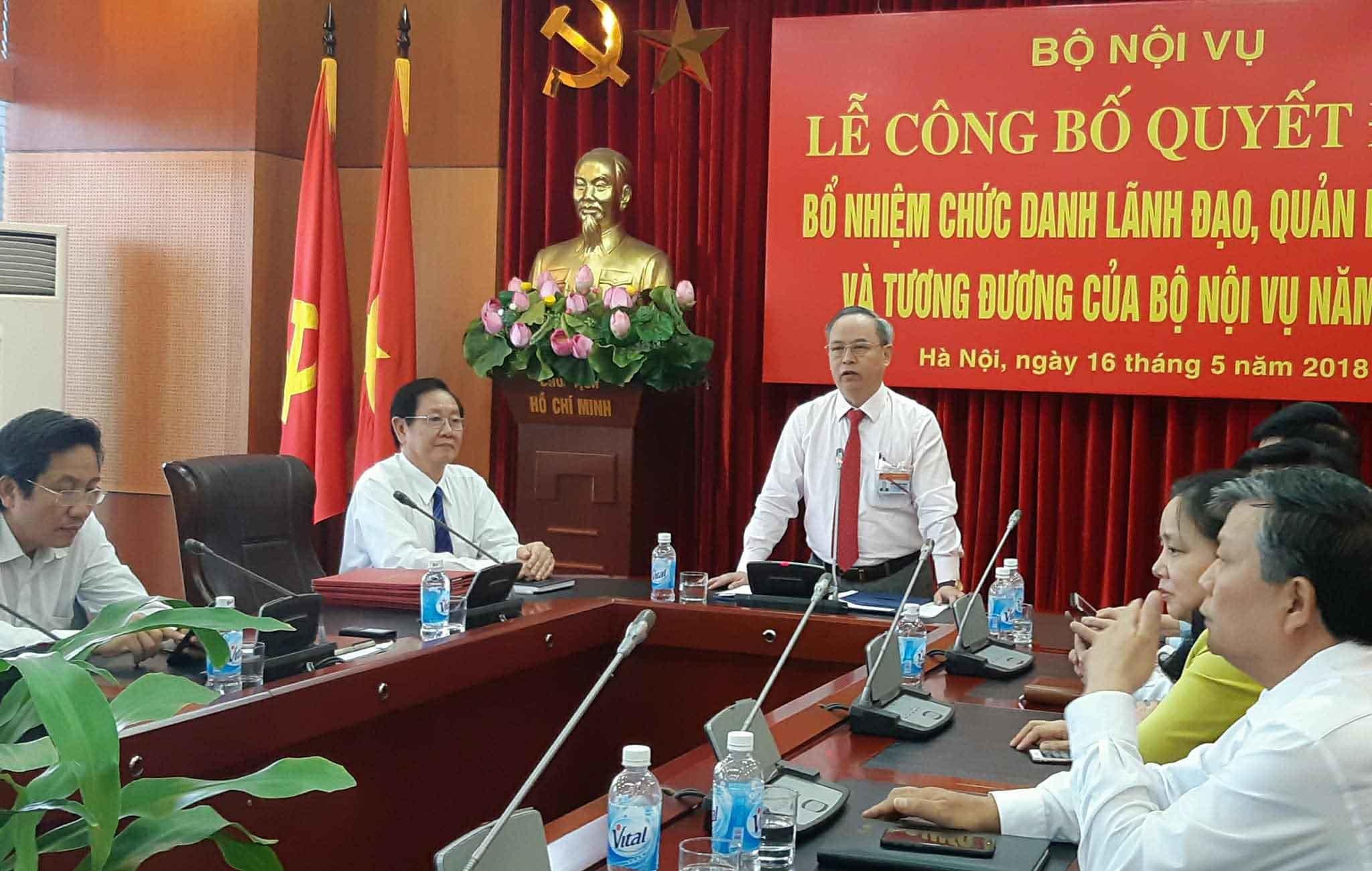 Bộ Nội vụ,thi tuyển lãnh đạo,Bộ trưởng Nội vụ,Lê Vĩnh Tân