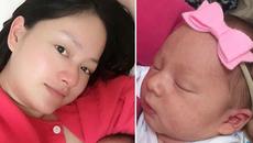 Diễn viên Lan Phương khoe ảnh con gái đầu lòng 1 ngày tuổi