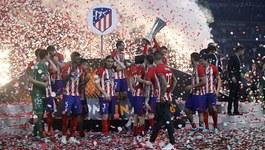 Dàn sao Atletico say sưa với chức vô địch Europa League