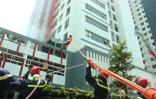 Diễn tập PCCC và cứu nạn cứu hộ tại The ONE Residence