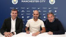 Guardiola ký hợp đồng