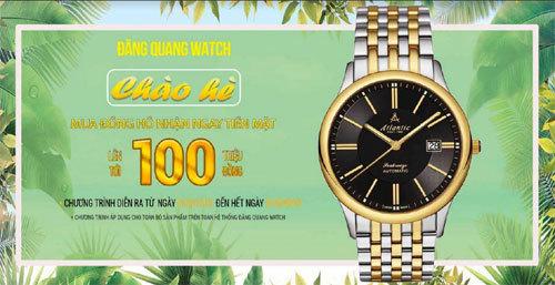 Mua đồng hồ chính hãng, 'bỏ túi' 100 triệu đồng