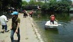 Lao xuống cứu cháu, ông chết chìm dưới hồ Thiền Quang