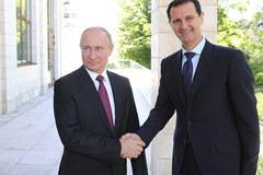 Tổng thống Syria bất ngờ tới dinh thự của ông  Putin