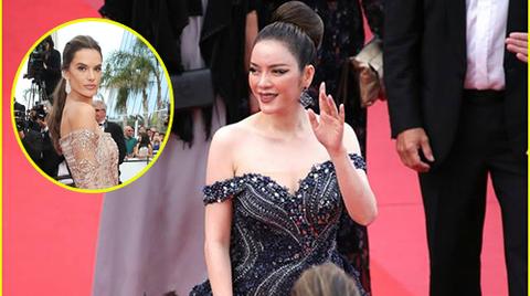 Lý Nhã Kỳ đọ sắc Alessandra Ambrossio trên thảm đỏ Cannes