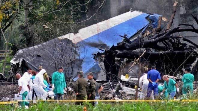 Hình ảnh hiện trường máy bay Cuba gặp nạn, hơn 100 người chết