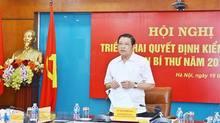 Triển khai quyết định kiểm tra của Ban Bí thư với Ban cán sự đảng Bộ TT&TT