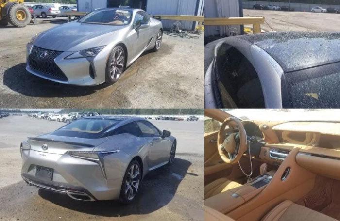 'Dính' mưa đá, Lexus LC500 rao bán chỉ 241 triệu đồng