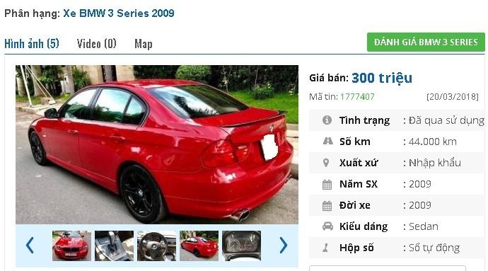 Những chiếc BMW cũ số tự động này đang rao giá 300 triệu tại Việt Nam
