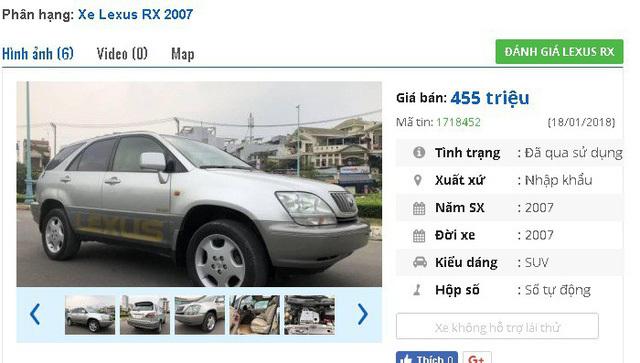 3 chiếc ô tô Lexus cũ số tự động này đang rao giá 400 triệu tại Việt Nam