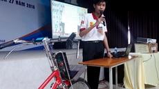Xe máy 'đội lốt' xe đạp siêu độc, siêu lạ của cậu học trò lớp 9
