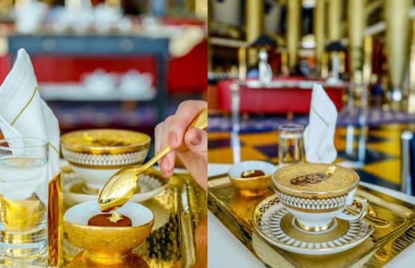 vàng,ẩm thực vàng,dát vàng,món ăn dát vàng
