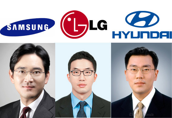 tập đoàn lg,tập đoàn samsung,tập đoàn hyndai,Hàn Quốc,thừa kế