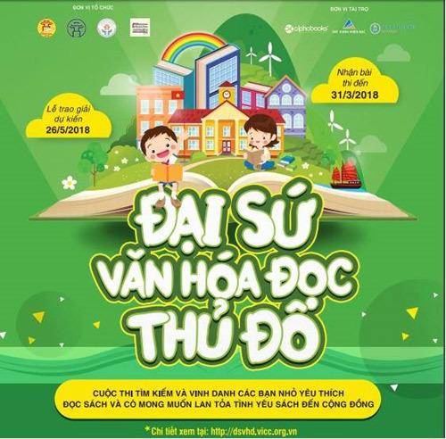 28 học sinh Hà Nội nhận giải Đại sứ Văn hóa Đọc