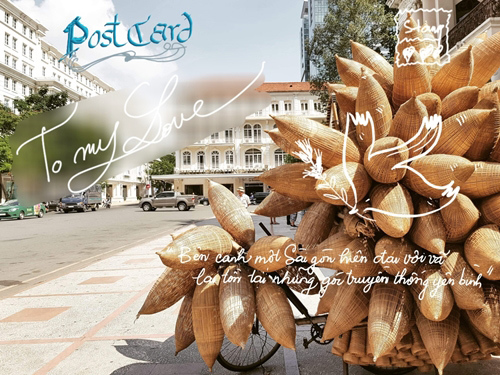 Sáng tạo postcard Sài thành với S Pen