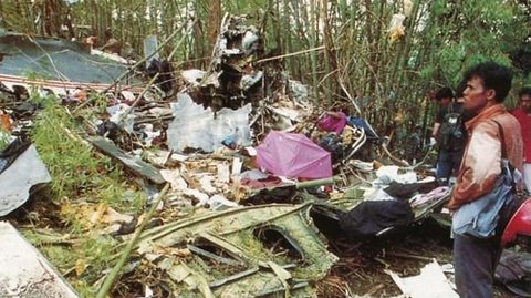 hiện trường rơi máy bay Áo ngày 26/5/1991