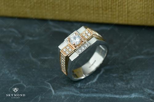 Nhẫn Platin ghép vàng - tuyên ngôn đẳng cấp phái mạnh