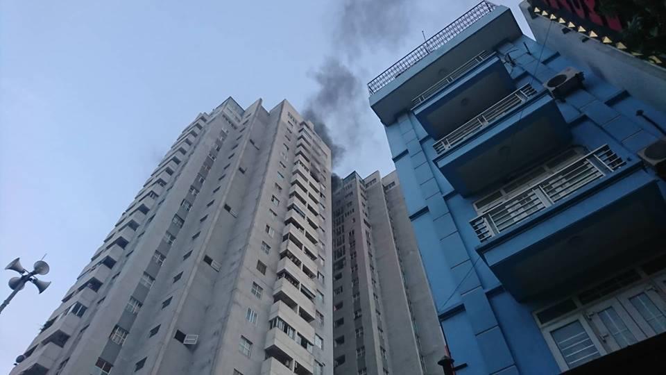 Hà Nội,cháy lớn,cháy chung cư,cháy chung cư Bắc Hà