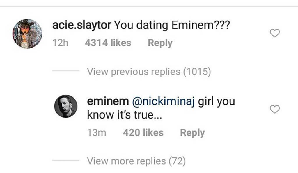 Nicki Minaj xác nhận đang hẹn hò với Eminem