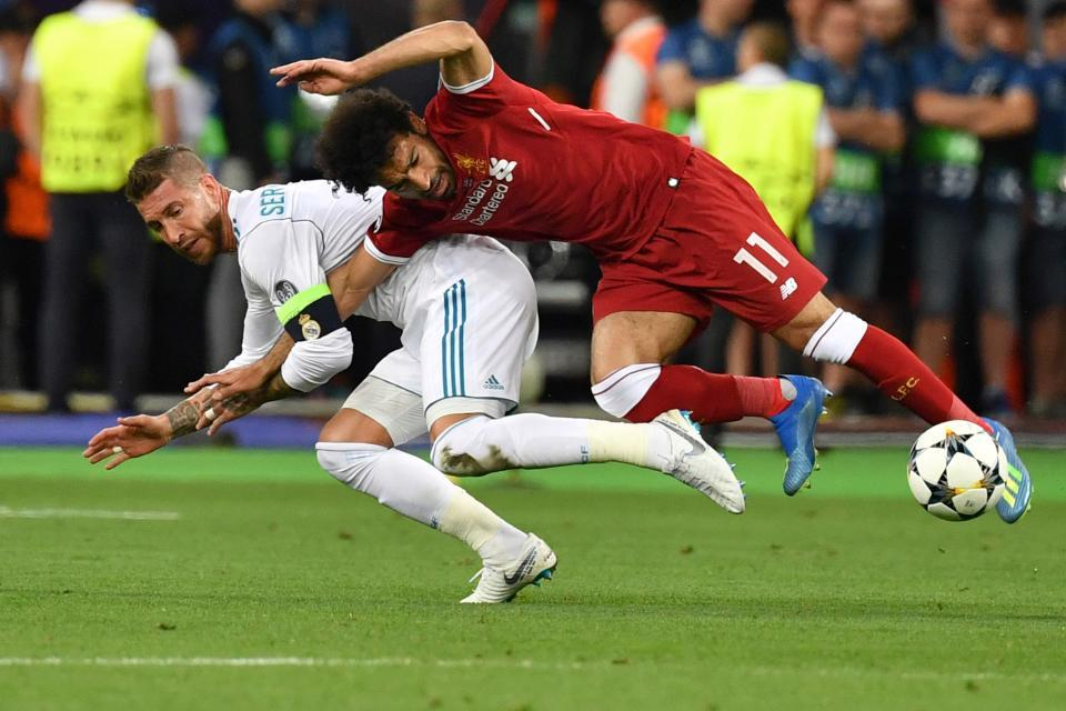Sergio Ramos,Salah,Real Madrid,Liverpool