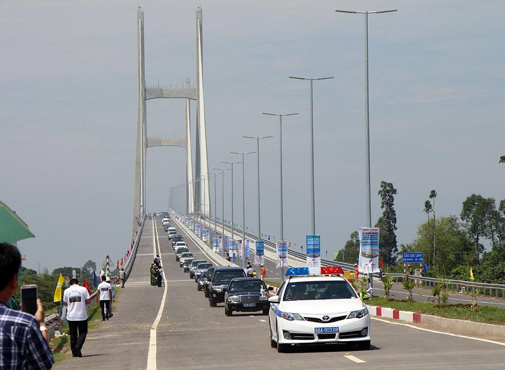 cầu cao lãnh,khánh thành cầu,Bộ GTVT,thông xe,Đồng Tháp