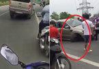 Ford Ranger gây tai nạn rồi bỏ chạy, phóng vun vút bằng 3 bánh