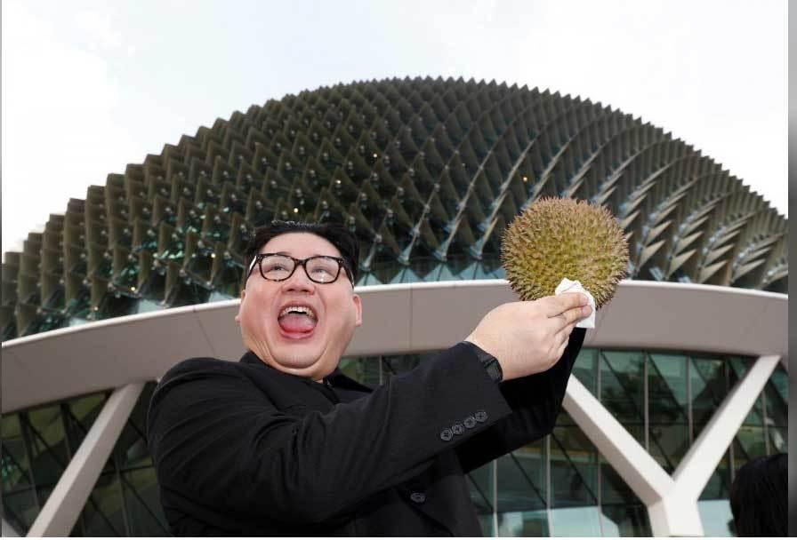 'Bản sao' của Kim Jong Un xuất hiện tại Singapore