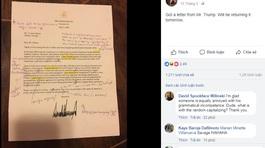 Cô giáo sửa lỗi ngữ pháp chi chít trong thư hồi âm của Tổng thống Trump