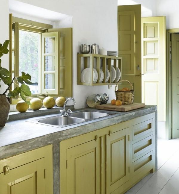 Những gam màu giúp bếp nhỏ luôn mát mẻ, thoáng đãng vào mùa nóng