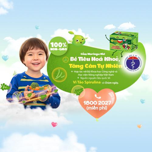 Moringa Kid - giúp tiêu hóa khỏe để trẻ tăng cân tự nhiên