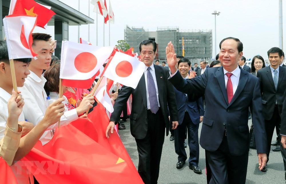 Hình ảnh Chủ tịch nước và phu nhân thăm cấp nhà nước tới Nhật Bản