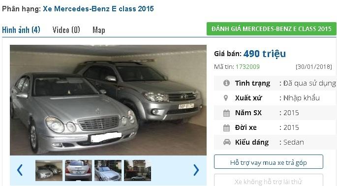 Những chiếc ô tô Mercedes cũ này đang bán 400 triệu tại Việt Nam