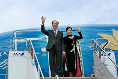 Nhật Bản bắn 21 loạt đại bác chào mừng Chủ tịch nước
